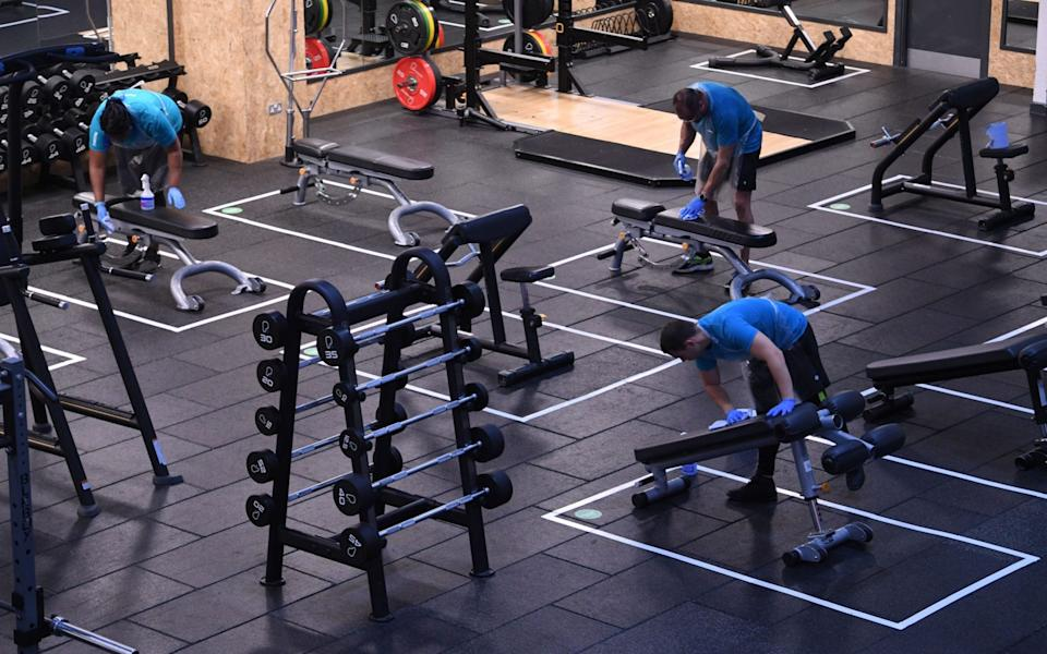 Gyms have enforced several measures to prevent a spike in Covid cases including seperating equipment by at least two metres from each other and marking out squares for individuals to train