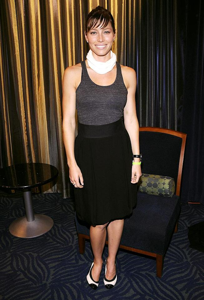 "Jessica Biel's heels were to die for, but the rest of her outfit was absolutely awful. Kevin Mazur/<a href=""http://www.wireimage.com"" target=""new"">WireImage.com</a> - July 16, 2008"