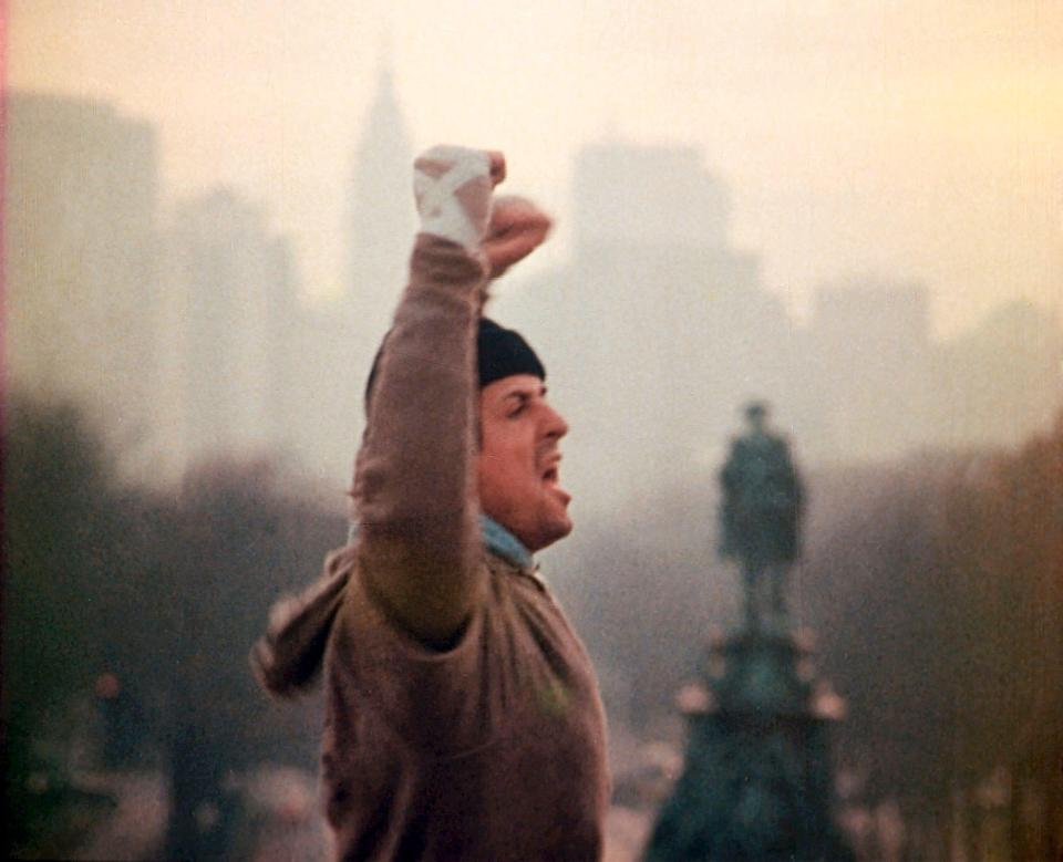 "Sylvester Stallone's first round as Rocky Balboa came in the Oscar-winning sports classic ""Rocky."""