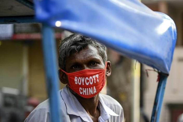 Anti-China sentiment has soared in India since the fight (AFP Photo/Sajjad HUSSAIN)
