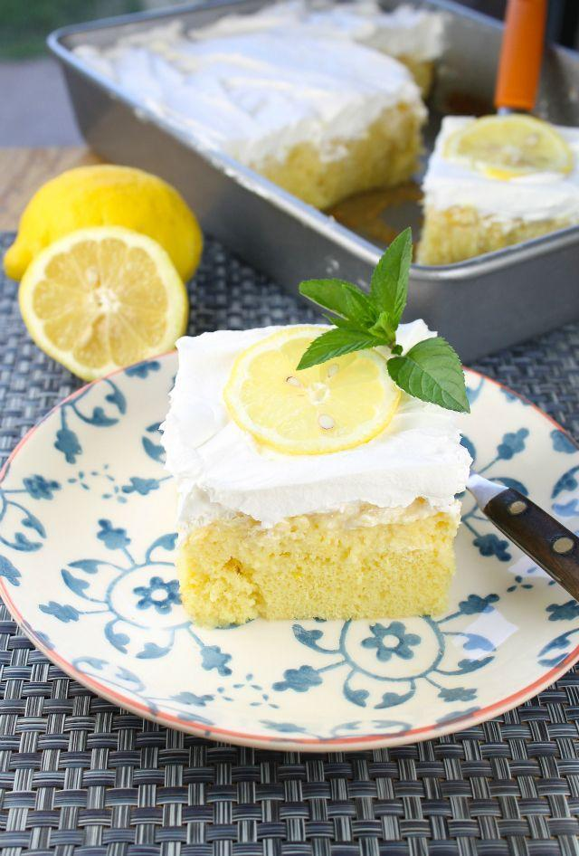 """<p>Sweet-tart lovers will devour this cake.</p><p>Get the recipe from <a href=""""http://www.missinthekitchen.com/lemon-pineapple-poke-cake/"""" rel=""""nofollow noopener"""" target=""""_blank"""" data-ylk=""""slk:Miss in the Kitchen"""" class=""""link rapid-noclick-resp"""">Miss in the Kitchen</a>.</p>"""