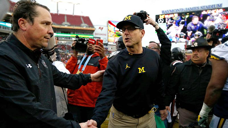 Jim Harbaugh must fix Michigan offense for pivotal 2018 after Outback Bowl meltdown