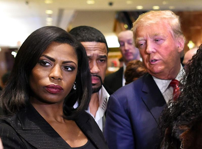 From left: Omarosa Manigault Newman and President Donald Trump in 2015 | Timothy A. Clary/AFP/Getty