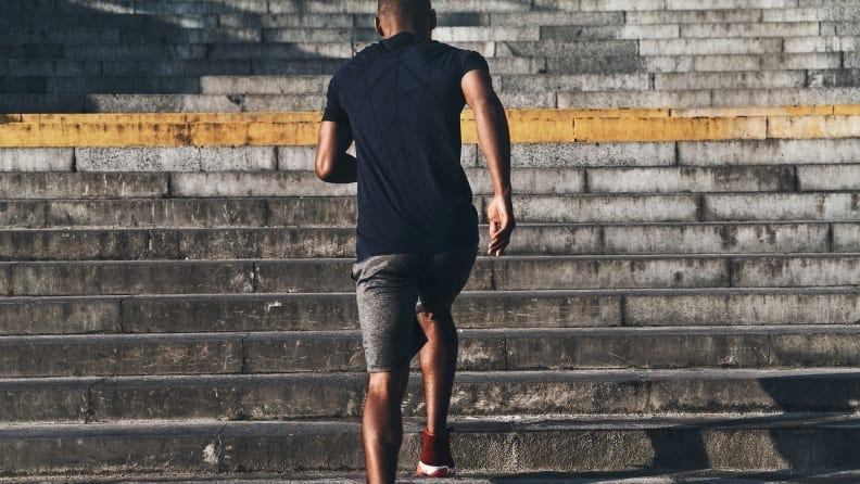 Walking up hills or some stairs can help level up your workout.