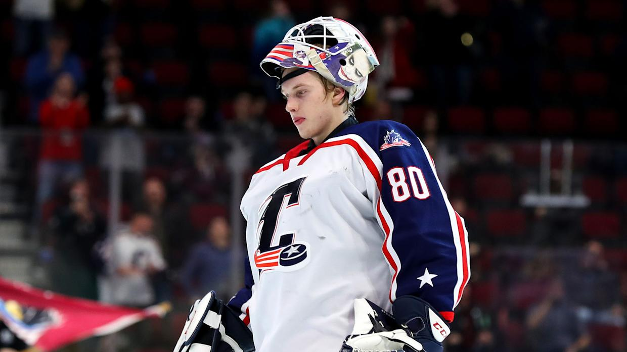 Late Columbus Blue Jackets goalie Matiss Kivlenieks saved lives before he died. (Photo by Frank Jansky/Icon Sportswire via Getty Images)