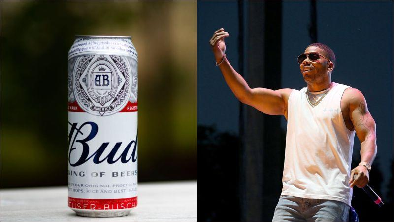 A can of Budweiser and Nelly