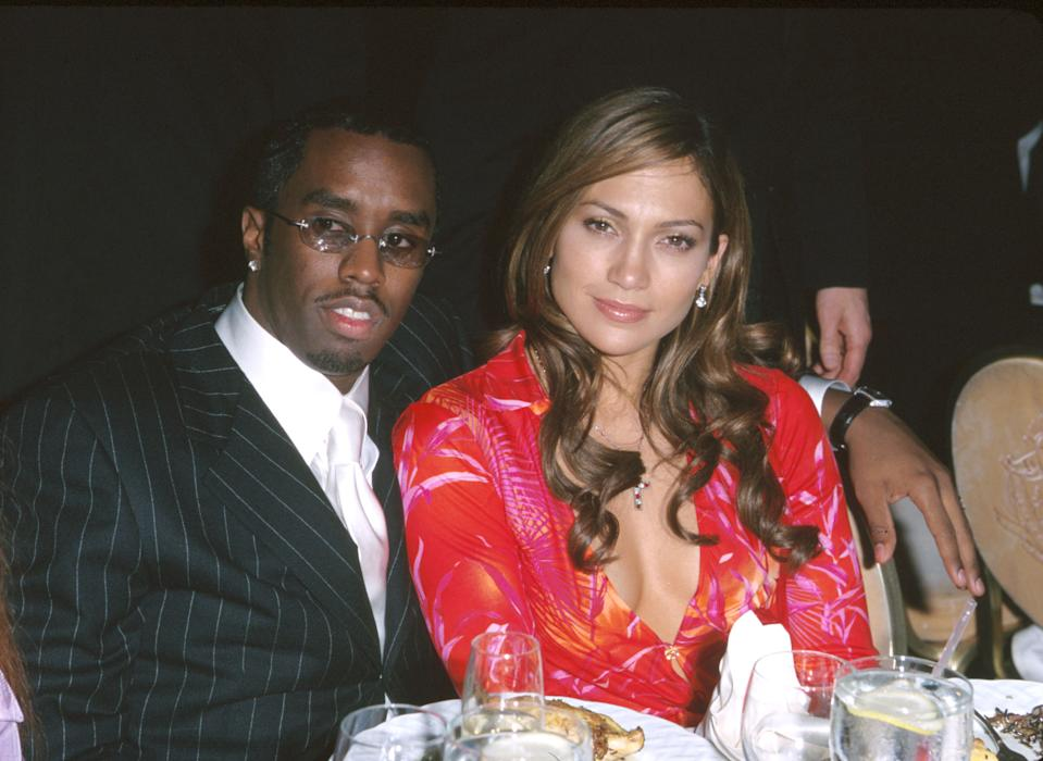 Diddy, here with Jennifer Lopez in 2000, explains what that throwback pic was all about.