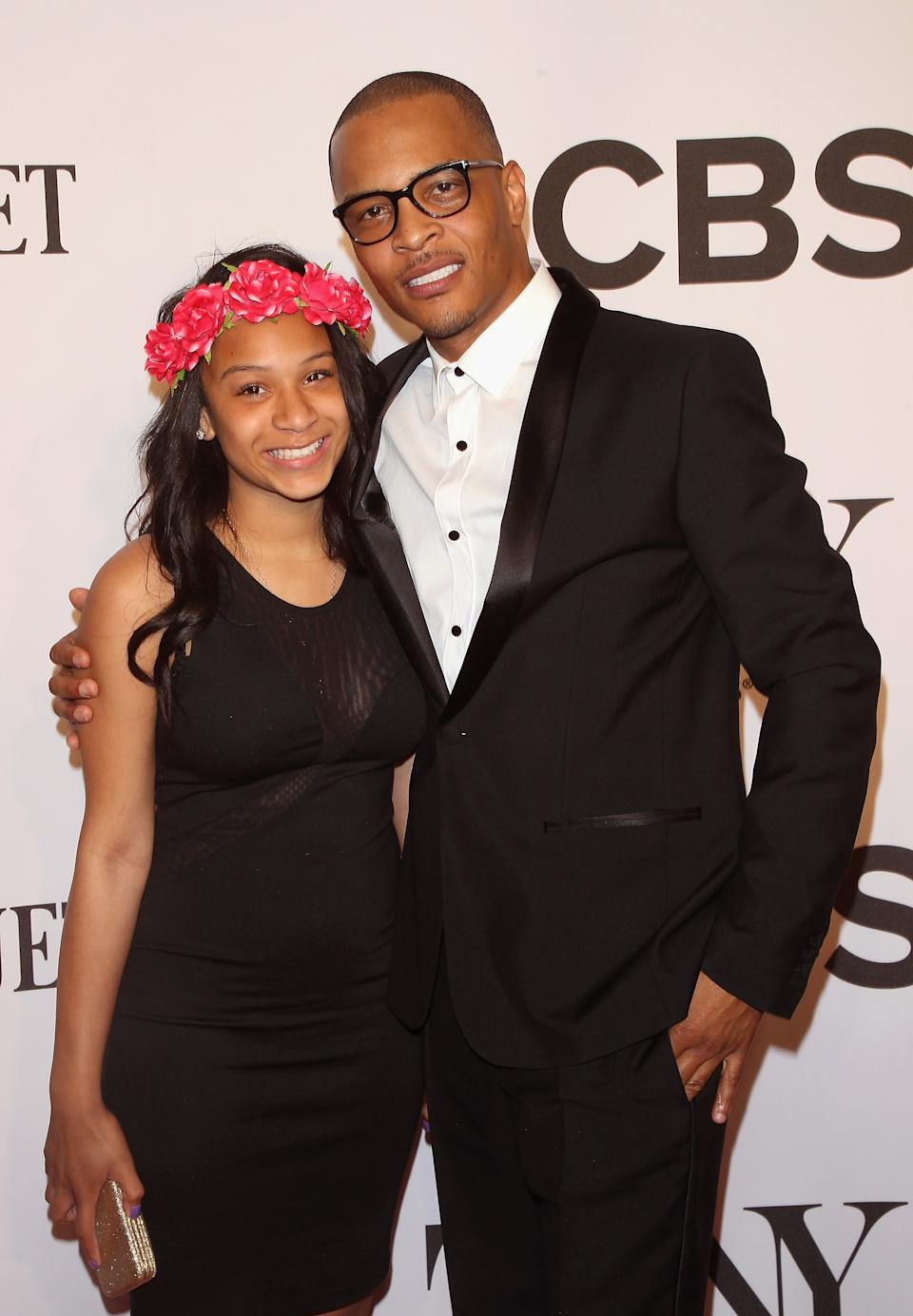 NEW YORK, NY - JUNE 08:  Deyjah Imani Harris (L) and T.I. attend American Theatre Wing's 68th Annual Tony Awards at Radio City Music Hall on June 8, 2014 in New York City.  (Photo by Jim Spellman/WireImage)