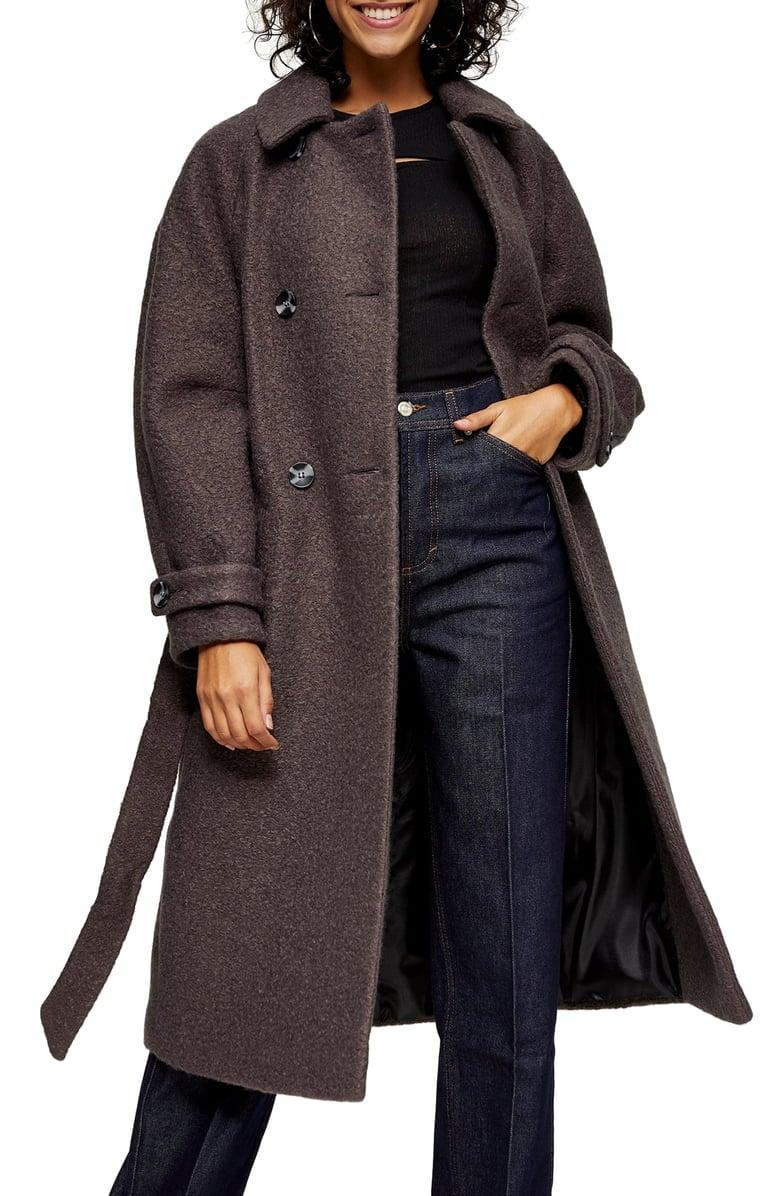 <p>This <span>Topshop Arin Bouclé Trench Coat</span> ($150) also comes in hot pink.</p>