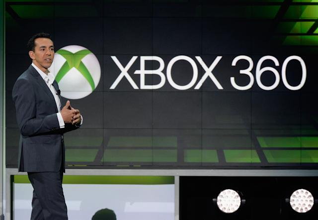LOS ANGELES, CA - JUNE 10: Yusuf Mehdi, senior vice president of the Online Audience Business Group at Microsoft Corp., speaks during Microsoft Xbox news conference at the Electronic Entertainment Expo at the Galen Center on June 10, 2013 in Los Angeles, California. Thousands are expected to attend the annual three-day convention to see the latest games and announcements from the gaming industry. (Photo by Kevork Djansezian/Getty Images)