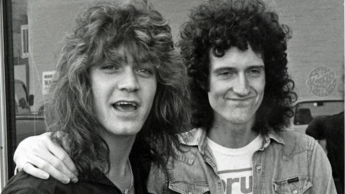Eddie Van Halen and Brian May