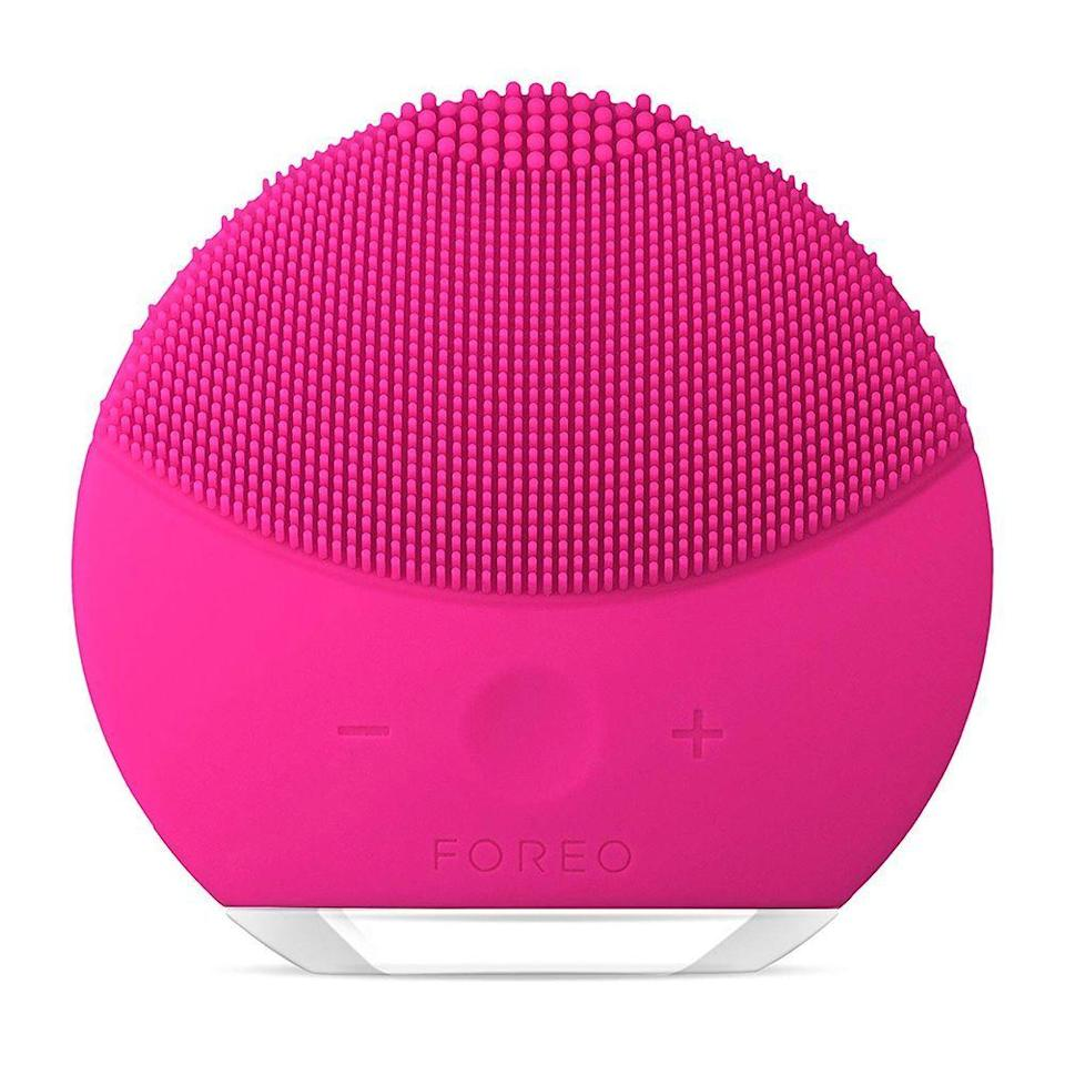 """<p><strong>Foreo</strong></p><p>amazon.com</p><p><strong>$49.00</strong></p><p><a href=""""https://www.amazon.com/FOREO-LUNA-play-plus-Cleansing/dp/B06XSY9612/ref?tag=syn-yahoo-20&ascsubtag=%5Bartid%7C2089.g.2100%5Bsrc%7Cyahoo-us"""" rel=""""nofollow noopener"""" target=""""_blank"""" data-ylk=""""slk:Shop Now"""" class=""""link rapid-noclick-resp"""">Shop Now</a></p><p>Even those who don't obsess over their skincare routine will love this massaging <a href=""""http://www.bestproducts.com/beauty/news/g506/facial-cleansing-brushes-scrubbers/"""" rel=""""nofollow noopener"""" target=""""_blank"""" data-ylk=""""slk:facial-cleansing brush"""" class=""""link rapid-noclick-resp"""">facial-cleansing brush</a>. It clears away 99.5% of dirt and oil and leaves skin feeling super soft! Plus, the mini size is easy to stash away in a toiletry bag for travel. </p>"""