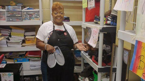 PHOTO: Carolyn Collins created her 'giving closet' five years ago after meeting two students who were homeless at Tucker High School in Tucker, Ga. (Courtesy Carolyn Collins)