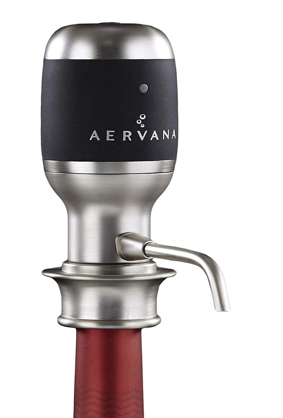 <p>Let your wine breathe without having to wait, thanks to this <span>Aervana Original: One Touch Luxury Wine Aerator</span> ($100).</p>