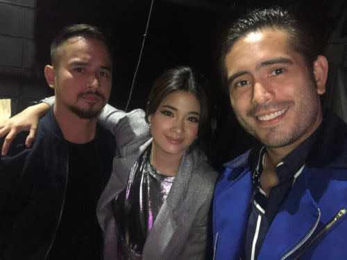 Yam Concepcion with Gerald Anderson (right) and JM de Guzman (left)