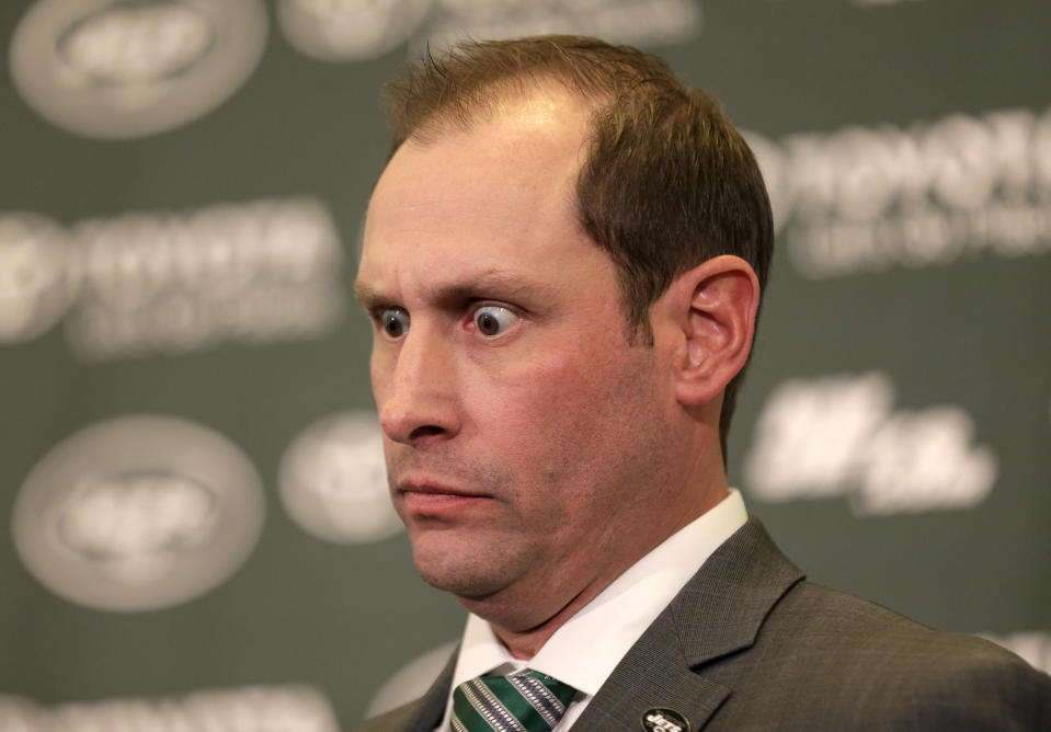 New York Jets head coach Adam Gase's introductory news conference was memorable. (AP)