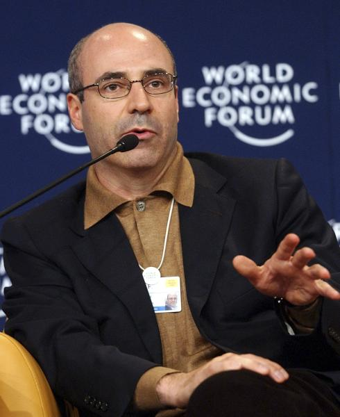 FILE - In this file photo taken on Friday Jan. 28, 2005, CEO of Hermitage Capital Management, Russia, William Browder gestures while speaking during a panel discussion 'The Russian Riddle' at the World Economic Forum in Davos, Switzerland. Russian news agencies say on Thursday that a court in Moscow has found dead lawyer Sergei Magnitsky guilty of tax evasion, concluding an unusual posthumous trial. Magnitsky died in prison of untreated pancreatitis in 2009, months after alleging that organized criminals colluded with corrupt Interior Ministry officials to claim a $230 million tax rebate through illegally obtained subsidiaries of Browder's Hermitage Capital investment company. (AP Photo/Virginia Mayo, File)