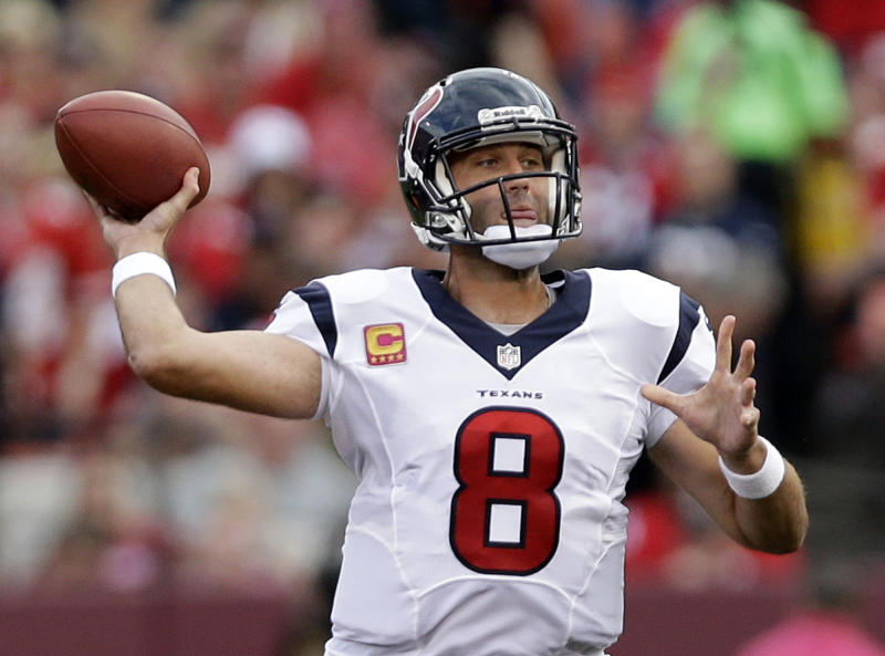 Houston's Kubiak sticking with Schaub