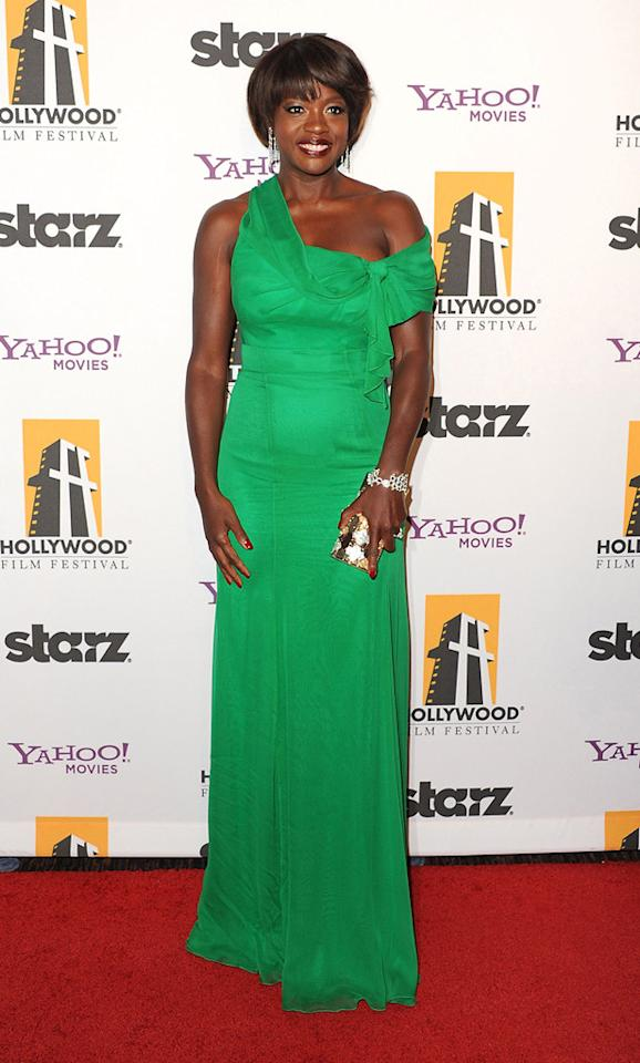 """<a href=""""http://movies.yahoo.com/movie/contributor/1800315745"""">Viola Davis</a> at the 15th Annual Hollywood Film Awards in Beverly Hills, California on October 24, 2011."""