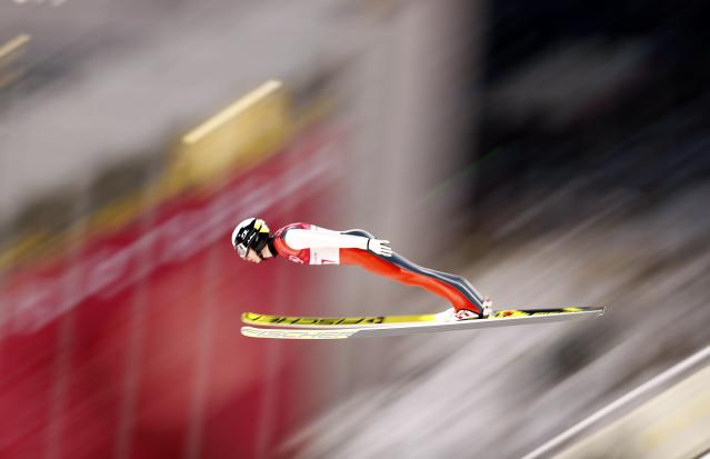 Nordic Combined Events – Pyeongchang 2018 Winter Olympics – Men's Individual Gundersen Large Hill Trial round – Alpensia Ski Jumping Centre - Pyeongchang, South Korea – February 20, 2018 - Ilkka Herola of Finland competes. REUTERS/Dominic Ebenbichler