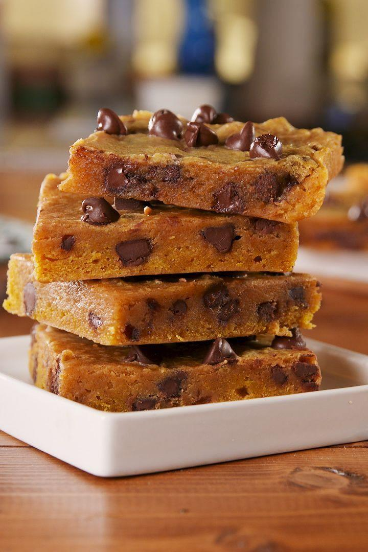 """<p>When it comes to pumpkin, we're as basic as it gets. But, to be perfectly honest, with the exception of <a href=""""https://www.delish.com/uk/cooking/recipes/a30054292/healthy-easy-pumpkin-bread-recipe/"""" rel=""""nofollow noopener"""" target=""""_blank"""" data-ylk=""""slk:pumpkin bread"""" class=""""link rapid-noclick-resp"""">pumpkin bread</a>, we kinda hate baking with it. The flavour is bomb, obviously, but the texture always gets screwed up! Just a little bit of pumpkin can make cookies and blondies wayyyy cakey. And we want blondies dense and fudgy. Rest assured, this recipe went through A TON of testing until the bars' consistency were as close as possible.</p><p>Get the <a href=""""https://www.delish.com/uk/cooking/recipes/a34188196/pumpkin-spice-blondies-recipe/"""" rel=""""nofollow noopener"""" target=""""_blank"""" data-ylk=""""slk:Pumpkin Spice Blondies"""" class=""""link rapid-noclick-resp"""">Pumpkin Spice Blondies</a> recipe.</p>"""