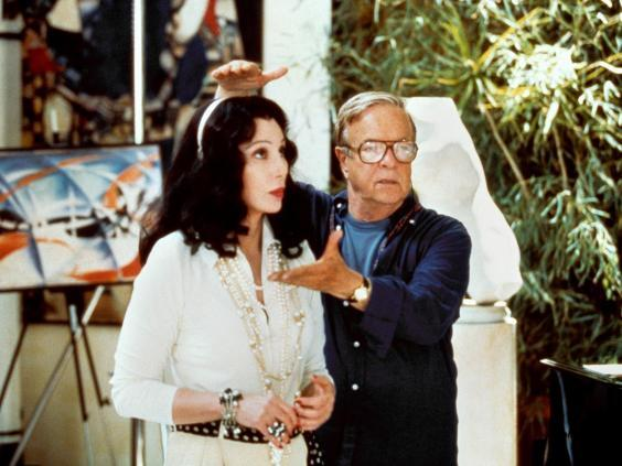 With Cher on the set of the film 'Tea With Mussolini', 1999 (Alamy)