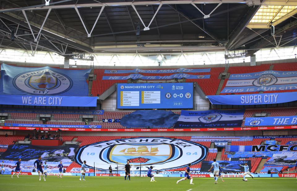Chelsea and Manchester City are reportedly part of a super league plan. (Adam Davy, Pool via AP)