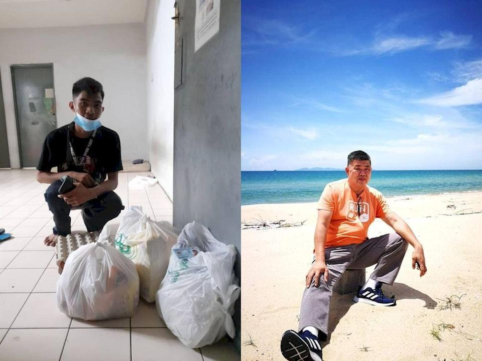 Local philanthropist Uncle Kentang helped out the hungry college student who uses his allowance to support his mother. — Photo courtesy of Facebook/ Kuan Chee Heng