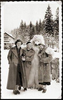 Eva Braun and friends in the Bavarian Alps, Germany, 1935. Galerie Bilderwelt/Getty Images