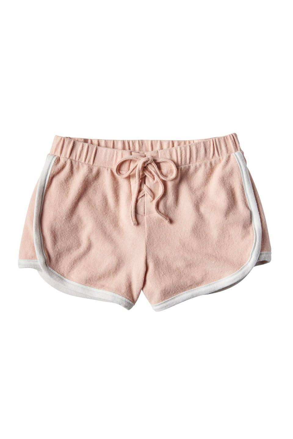 """<p>These will be your lounge-around go-to. Forever. </p><p>Aéropostale shorts, $12, <a href=""""http://www.aeropostale.com/"""" rel=""""nofollow noopener"""" target=""""_blank"""" data-ylk=""""slk:aeropostale.com"""" class=""""link rapid-noclick-resp"""">aeropostale.com</a></p>"""