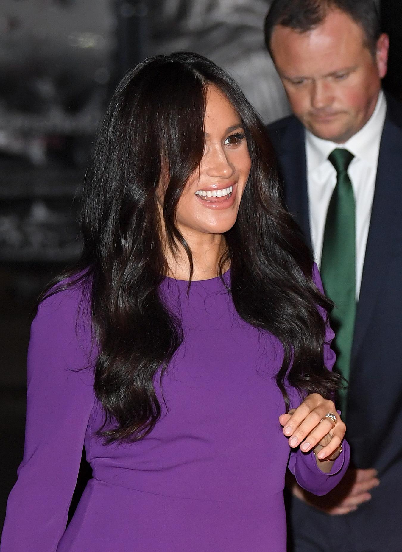 LONDON, ENGLAND - OCTOBER 22: Meghan, Duchess of Sussex attends the One Young World Summit Opening Ceremony at Royal Albert Hall on October 22, 2019 in London, England. HRH is Vice-President of The Queen's Commonwealth Trust, which is partnering with One Young World this year. (Photo by Karwai Tang/WireImage)