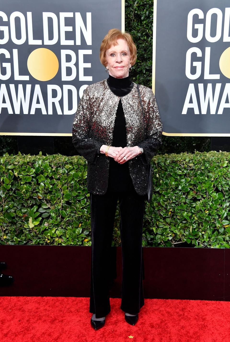 This is absolutely the right outfit to wear when you're 86 and a legend who has a major award named after you. So sparkly but also so comfortable!