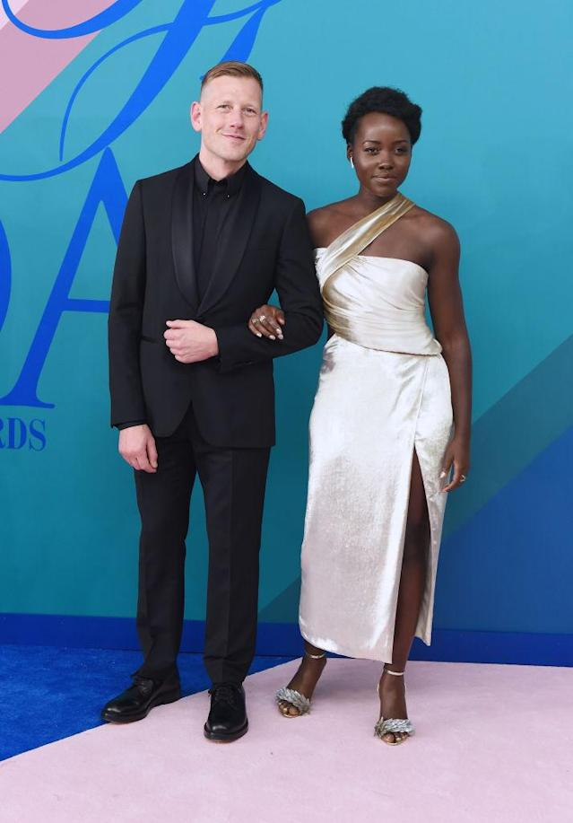 <p>Lupita Nyong'o's Grecian-inspired simplicity almost made us miss her bold Suno culottes and top from 2014. (Photo: Getty Images) </p>