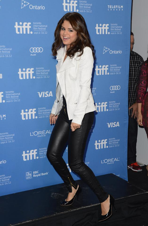 "TORONTO, ON - SEPTEMBER 08:  Actress Selena Gomez attends the ""Hotel Transylvania"" photo call during the 2012 Toronto International Film Festival at TIFF Bell Lightbox on September 8, 2012 in Toronto, Canada.  (Photo by Jason Merritt/Getty Images)"