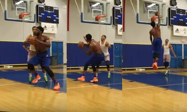<p>Trainer Drew Hanlen shared footage of Markelle Fultz putting in work and Joel Embiid battling Jayson Tatum in an epic 1-on-1.</p>
