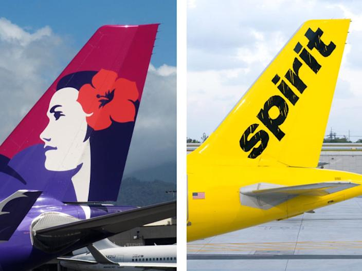 Hawaiian Airlines and Spirit Airlines