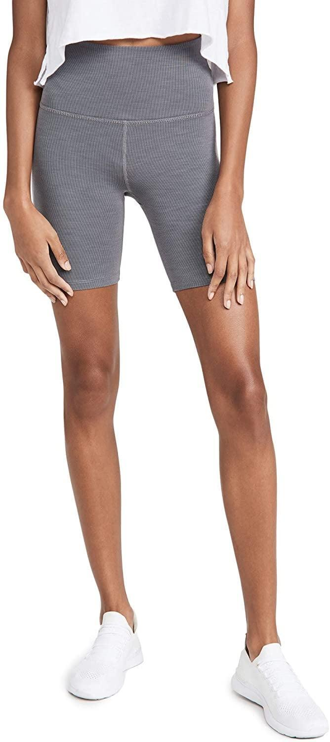 <p>We love how these <span>Beyond Yoga Women's Heather Rib Biker Shorts</span> ($68) work for both yoga and hiking.</p>