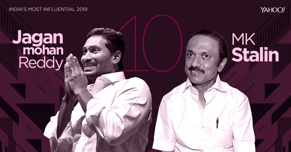 <em>On the basis of the recently held Lok Sabha elections alone, both, YSRCP boss Jagan Mohan Reddy and DMK supremo M K Stalin, have acquired even more influence and power in the Indian political arena.</em> <em>YSR Congress swept the 2019 Andhra Pradesh Assembly polls and 2019 General elections by winning 151 out of 175 seats in the Assembly, and 22 out of the 25 parliamentary seats. The DMK won 38 seats in the Lok Sabha. That total makes it the 3rd largest party in the Lok Sabha, behind only the BJP and the Congress.</em> <em>The influence that both these leaders have catapults them into the top 10 most powerful Indian politicians list. In their case, though, it's a tie.</em>