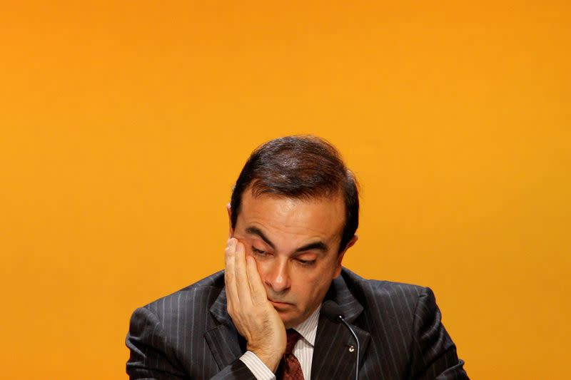 FILE PHOTO: Carlos Ghosn, President and Chief Executive Officer of Renault, attends the company annual shareholders meeting in La Defense business district