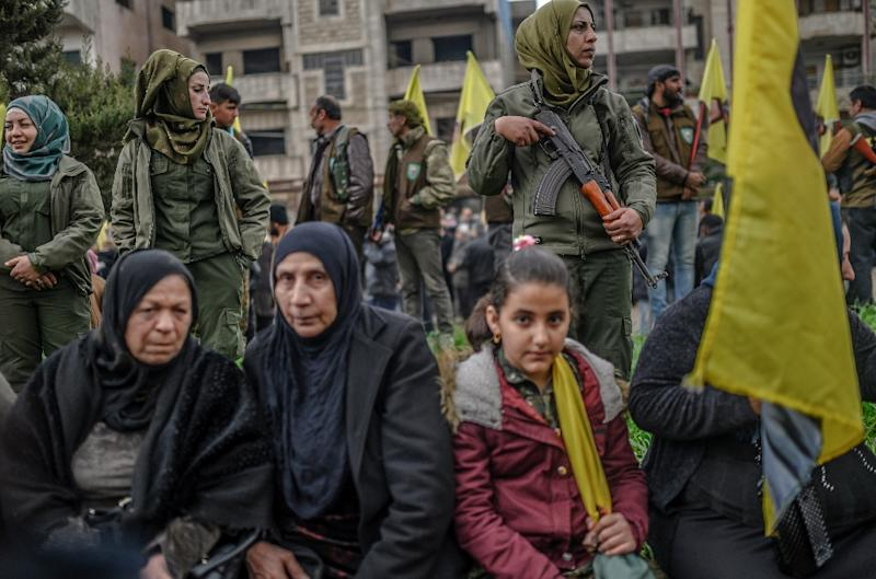"""Kurdish fighters have spearheaded the fight against IS since late 2014, but neighbouring Turkey views them as """"terrorists"""" (AFP Photo/Hector B. PEREZ)"""