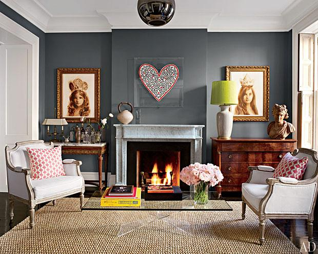 Brooke Shields' living room. William Waldron/Architectural Digest