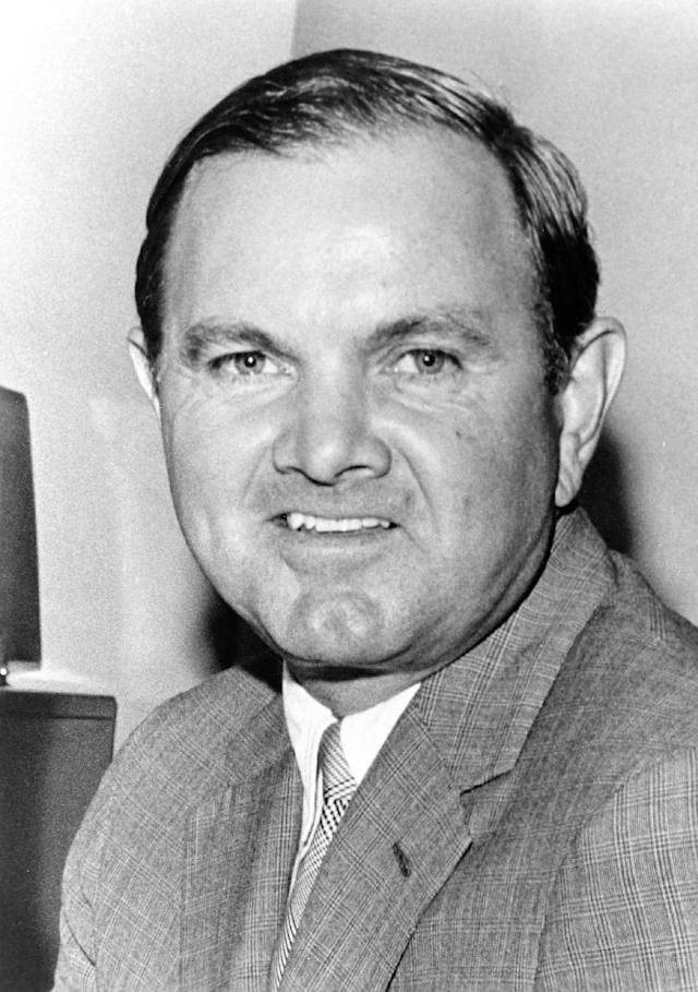 In this 1970 photo provided by NFL Photos, Buffalo Bills Hall of Fame owner Ralph Wilson poses for a photo in Buffalo, N.Y. Bills owner Wilson Jr. has died at his home in Grosse Pointe Shores, Mich., Tuesday, March 25, 2014. He was 95. Bills president Russ Brandon made the announcement at the NFL winter meetings in Orlando, Fla. Wilson Jr. was one of the original founders of the American Football League and owned the Bills for the last 54 years. (AP Photo/NFL Photos)