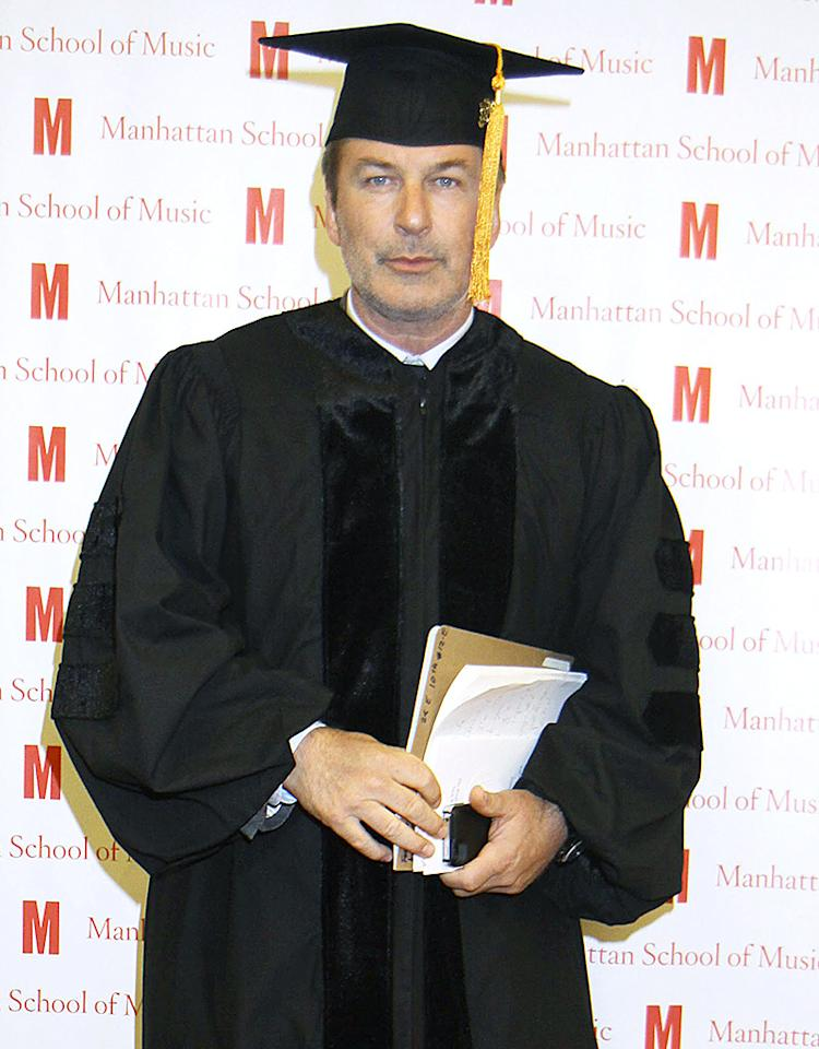 """30 Rock"" star Alec Baldwin gave up his quips for a day to be honored with a Doctor of Musical Arts degree from the Manhattan School of Music in New York City. That's Dr. Baldwin to you! (6/11/2012)<br /><br /><br />"