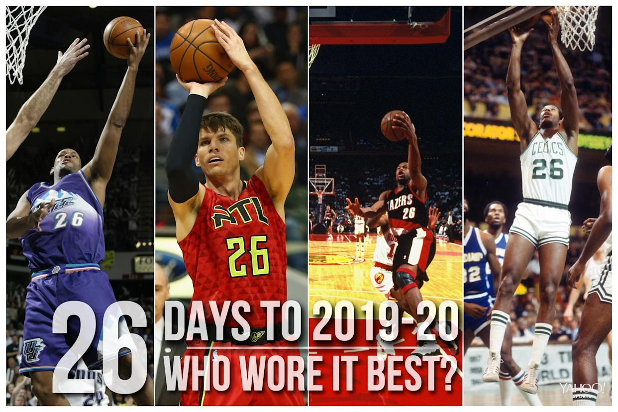 Which NBA player wore No. 26 best?