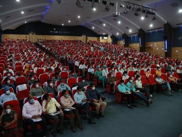 An event was organized at the Ravindra Natya Griha, Indore under the chairmanship of Collector and District Election Officer Manish Singh in connection with the training programme for postal ballots.