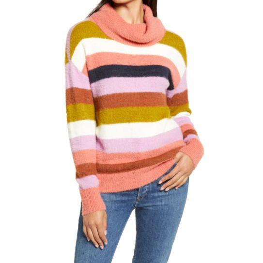 """This <a href=""""https://fave.co/35nRLFJ"""" target=""""_blank"""" rel=""""noopener noreferrer"""">Calson Turtleneck Sweater</a> is available in seven colors and sizes XS to XXL. Find it <a href=""""https://fave.co/35nRLFJ"""" target=""""_blank"""" rel=""""noopener noreferrer"""">on sale for $29</a> (normally $59) at Nordstorm."""