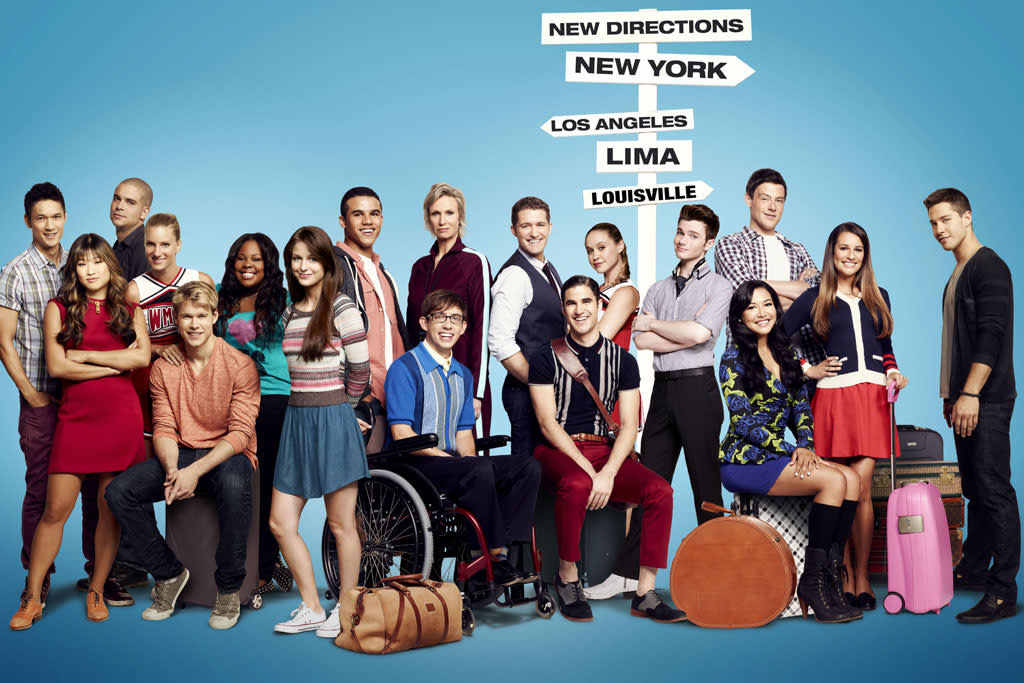 "The cast of ""Glee"" Season Four."