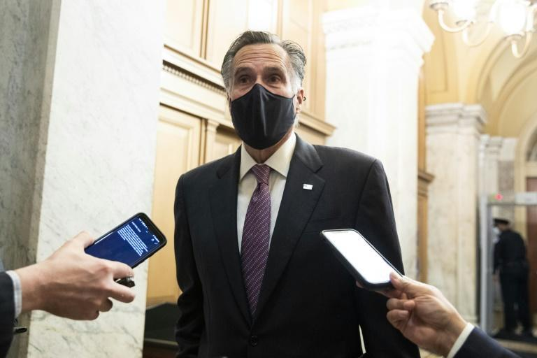Republican Senator from Utah Mitt Romney said he was shocked watching video of himself doing an about-face and running for his life when a police officer guided him away from a mob approaching the Senate chamber