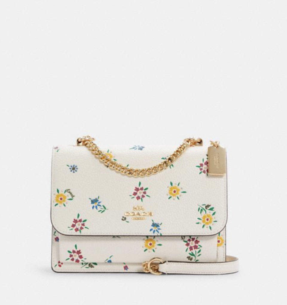 Klare Crossbody with Wild Meadow Print (Photo via Coach Outlet)