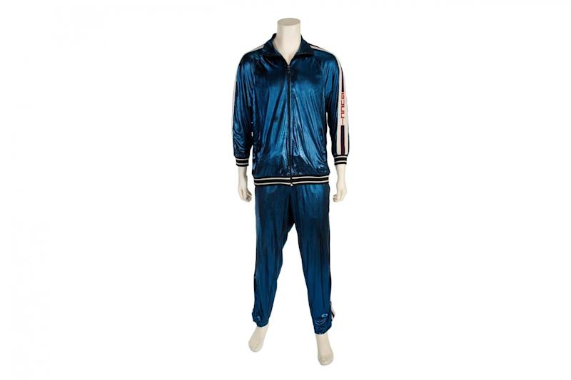Shell (out) suit: Sir Elton's blue attire is expected to earn more than £3k at auction (Julien's Auctions/PA Wire)